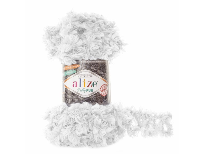 Alize Puffy Fur, 100% Polyester 5 Skein Value Pack, 500g фото 2
