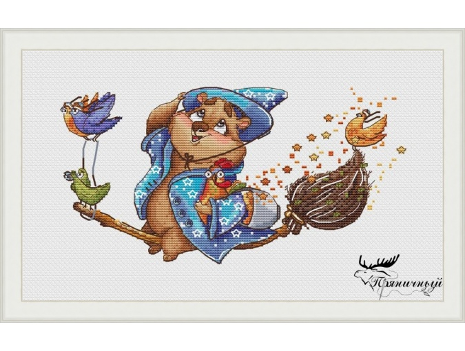 Wizard Bear. Air Adventures Cross Stitch Pattern фото 1