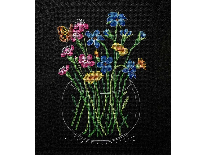 Summer Bouquet in a Glass Cross Stitch Kit фото 1