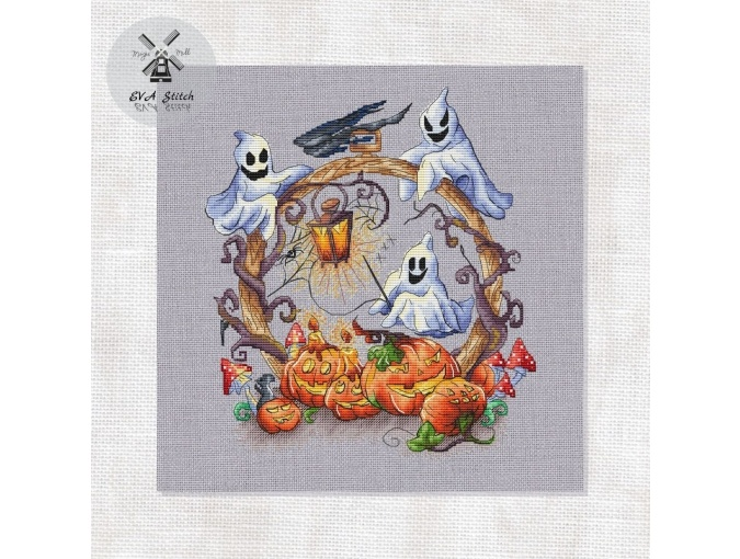 Magic Pumpkins Cross Stitch Pattern фото 1