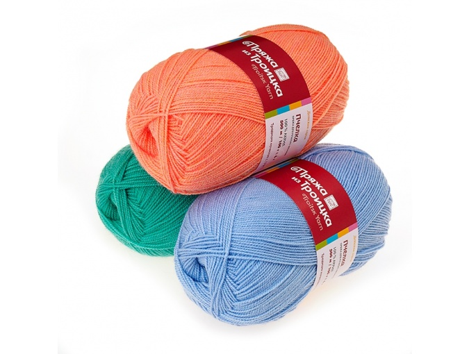 Troitsk Wool Bee, 100% acrylic 10 Skein Value Pack, 1000g фото 1