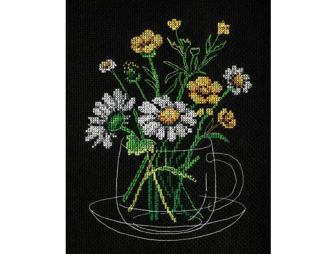 Chamomile Tea Cross Stitch Kit фото 1