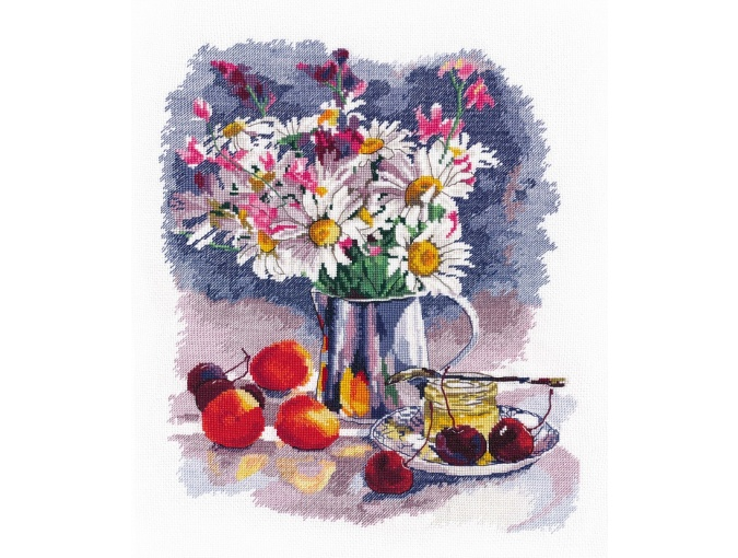 Still Life with Daisies Cross Stitch Kit  фото 1