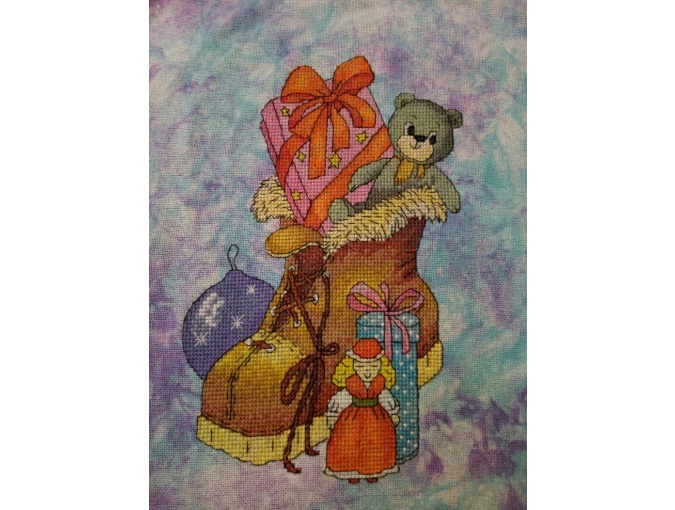 Christmas Boot Cross Stitch Pattern фото 2