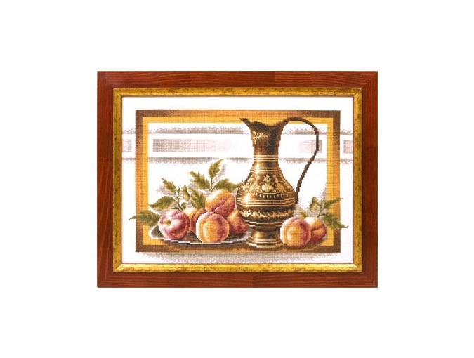 Still Life with Peaches Cross Stitch Kit фото 2