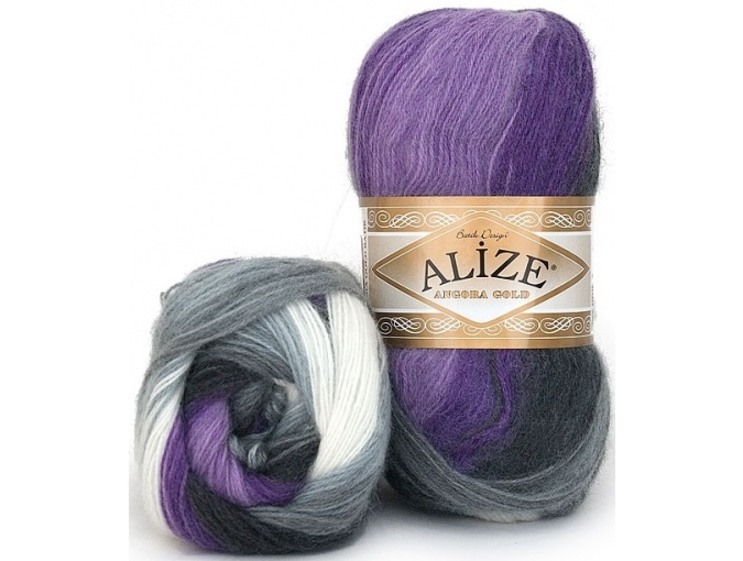 Alize Angora Gold Batik, 10% mohair, 10% wool, 80% acrylic 5 Skein Value Pack, 500g фото 25