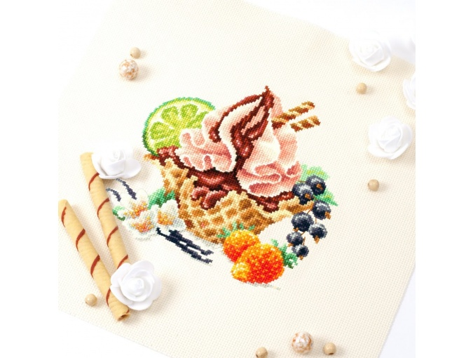 Vanilla Ice Cream Cross Stitch Kit фото 7
