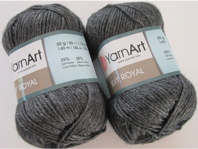 YarnArt Silky Royal 35% Silk Rayon, 65% Merino Wool, 5 Skein Value Pack, 250g фото 12