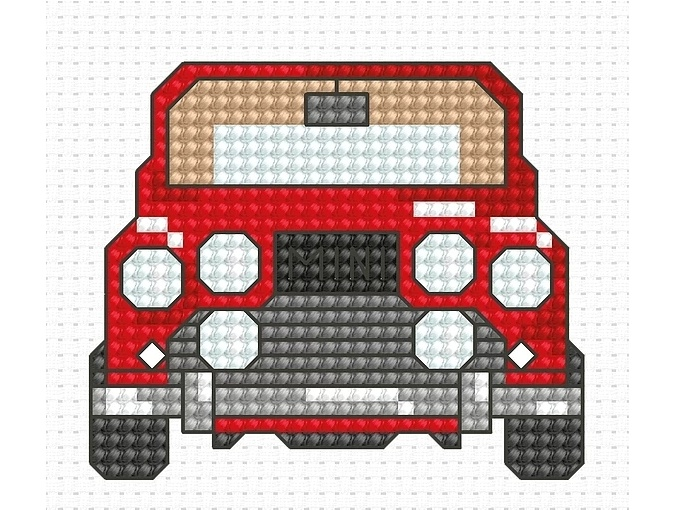 My First Embroidery. Car Cross Stitch Kit фото 1
