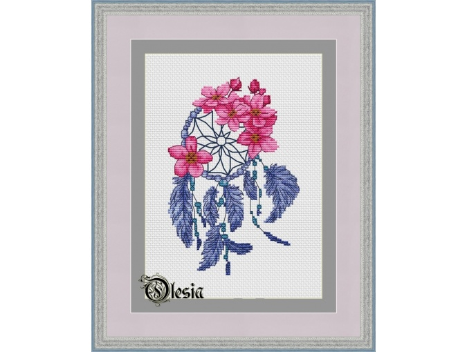 Dreamcatcher with Flowers Cross Stitch Pattern фото 1