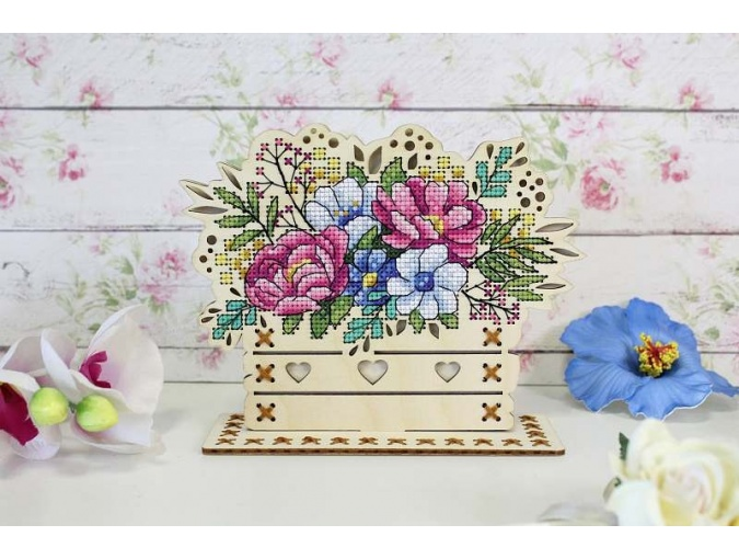 Flower Composition Embroidery Kit фото 2