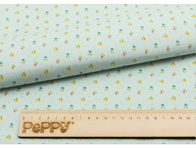 Fat Quarter Peppy, print Blue with Small Flowers фото 2