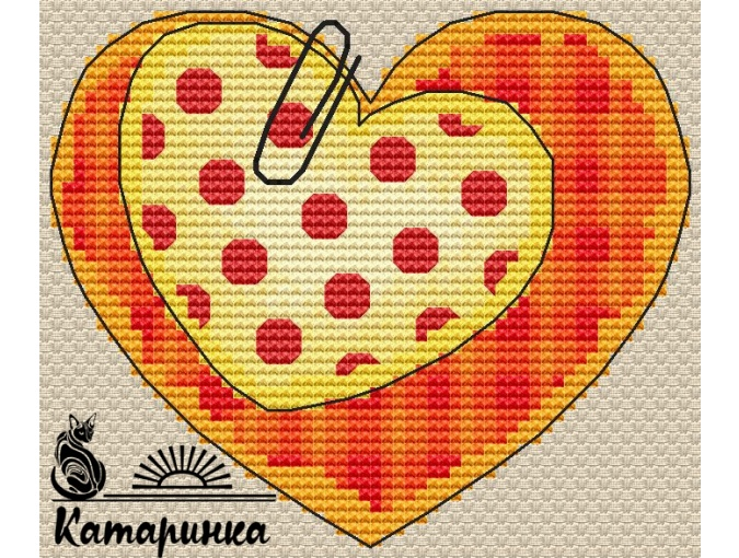 Valentine Сard Cross Stitch Pattern фото 1