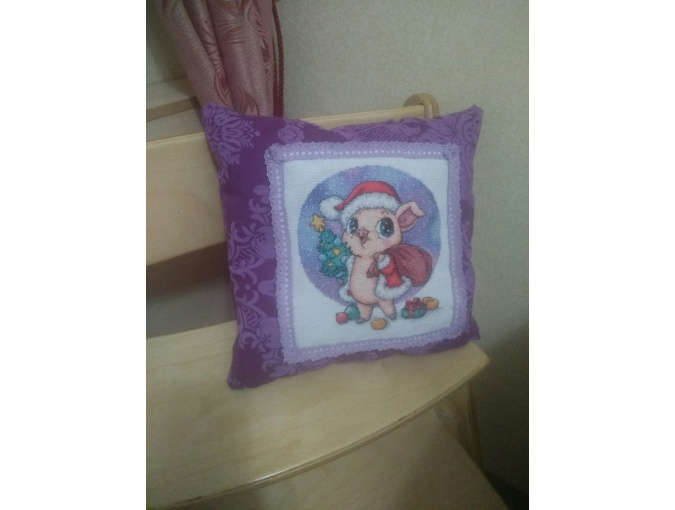 Piglet Santa Cross Stitch Pattern фото 5