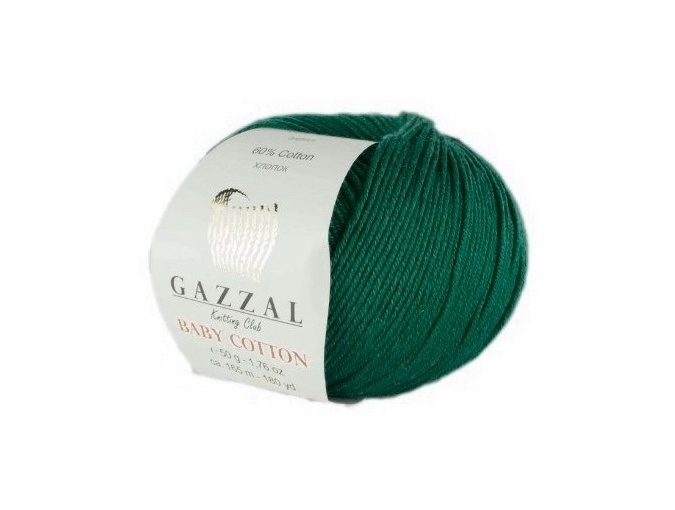 Gazzal Baby Cotton, 60% Cotton, 40% Acrylic 10 Skein Value Pack, 500g фото 116
