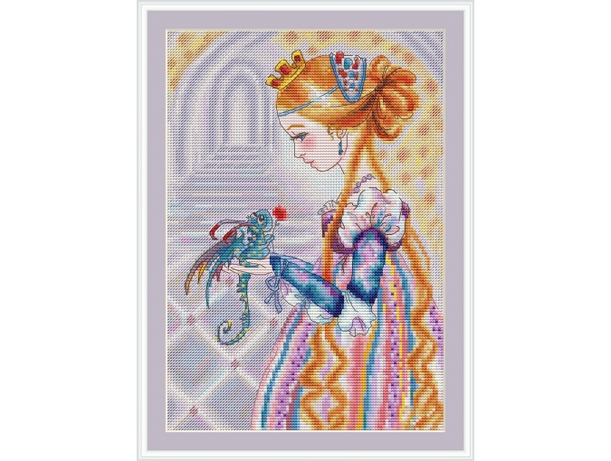 Lady of the Heart Cross Stitch Pattern фото 1