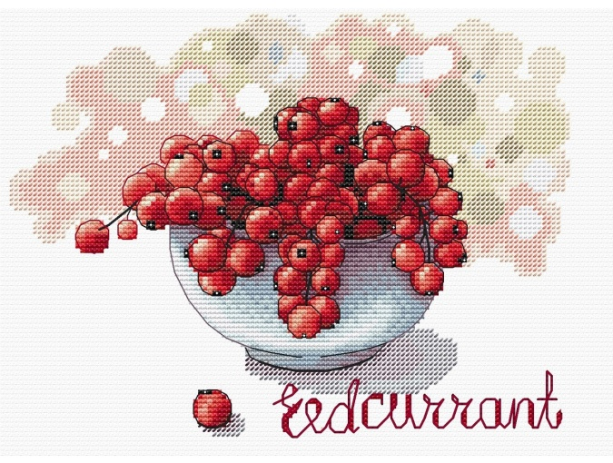Red Currants Cross Stitch Pattern фото 1
