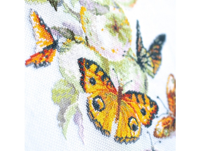Butterflies and Apples Cross Stitch Kit фото 7