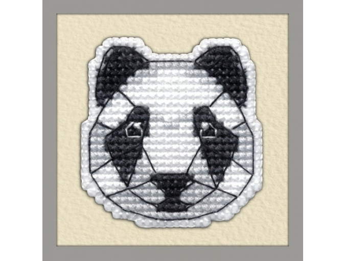 Panda Badge Cross Stitch Kit фото 1