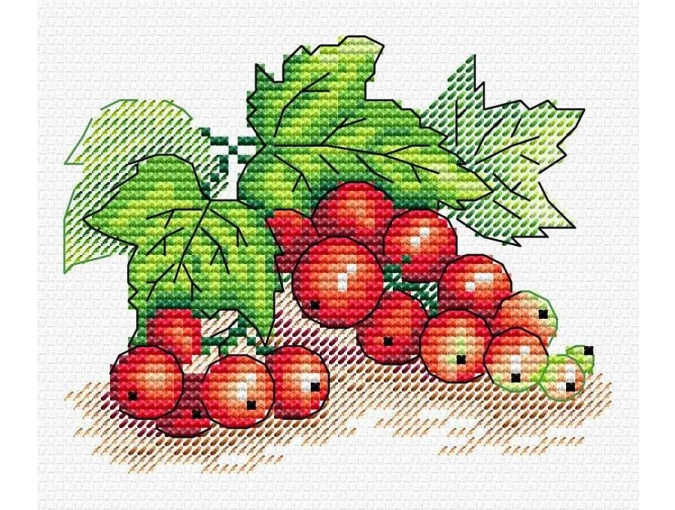 Red Ribes Cross Stitch Kit фото 1