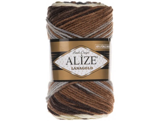 Alize Lanagold Batik 49% Wool, 51% Acrylic, 5 Skein Value Pack, 500g фото 9