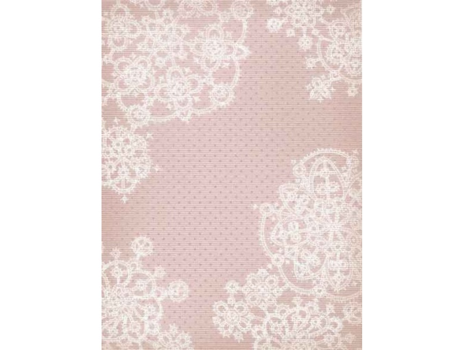 18 Count Aida Designer Fabric by MP Studia Pink with Snowflakes фото 1