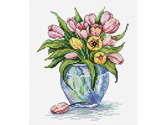 Gentle Flowers Cross Stitch Kit фото 1