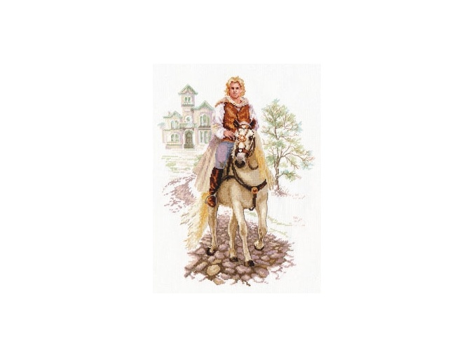 Young Man on a White Horse Cross Stitch Kit фото 1