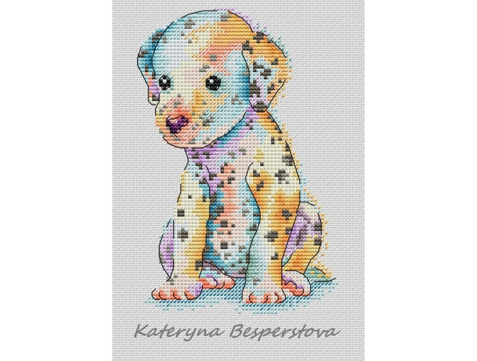 Dalmatian Cross Stitch Pattern фото 1