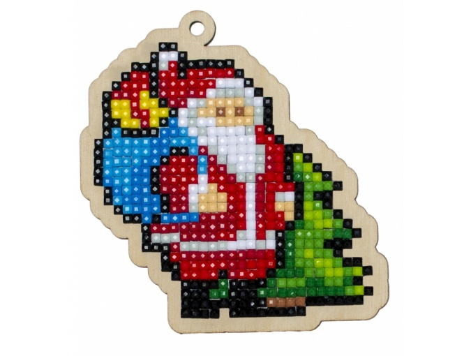 Santa with Presents Pendant Diamond Painting Kit фото 1