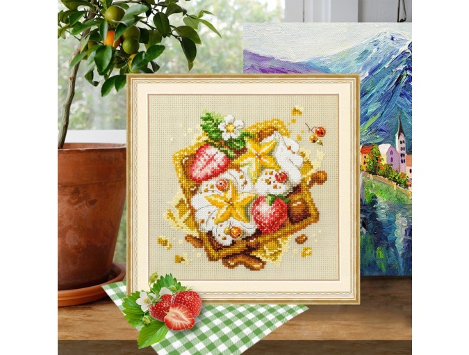 Viennese Waffles Cross Stitch Kit фото 4