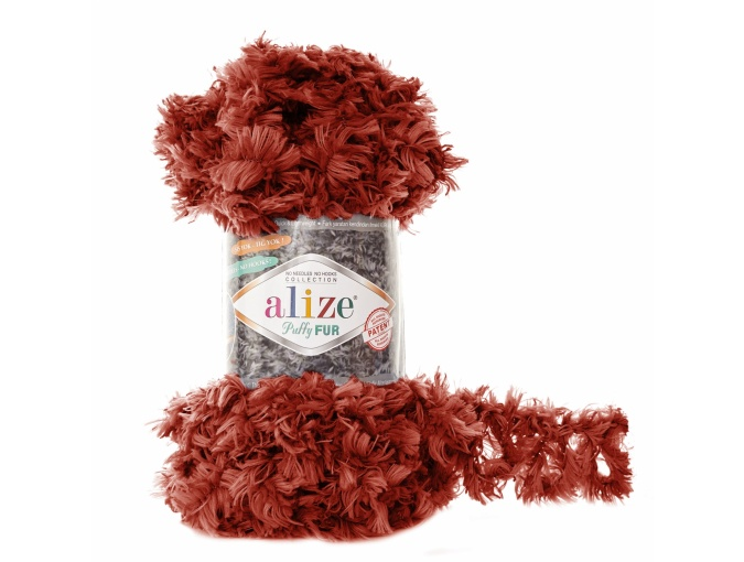 Alize Puffy Fur, 100% Polyester 5 Skein Value Pack, 500g фото 16