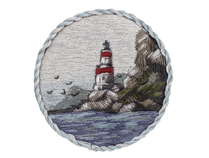 Lighthouse on the Shore Brooch Embroidery Kit фото 1