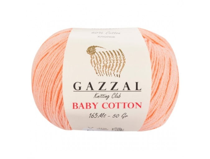Gazzal Baby Cotton, 60% Cotton, 40% Acrylic 10 Skein Value Pack, 500g фото 6
