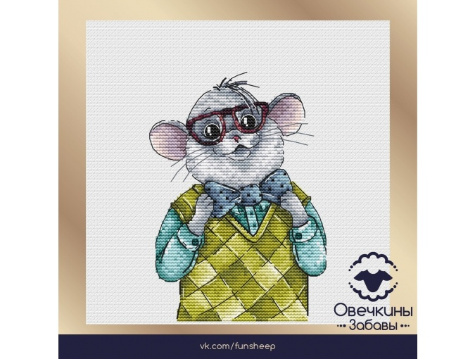 Mr. Rat Cross Stitch Pattern фото 1