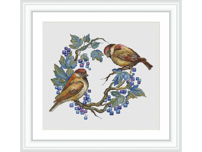 Sparrows Cross Stitch Pattern фото 1