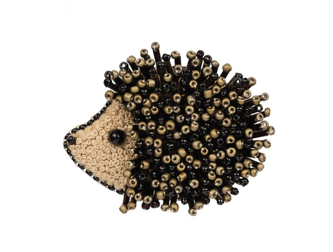 Brooch. Hedgehog Bead Embroidery Kit фото 1