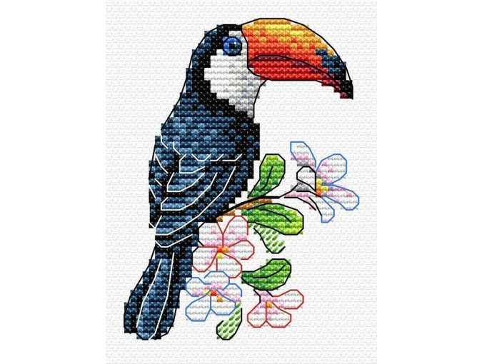 Tropical Inhabitant Cross Stitch Kit фото 1