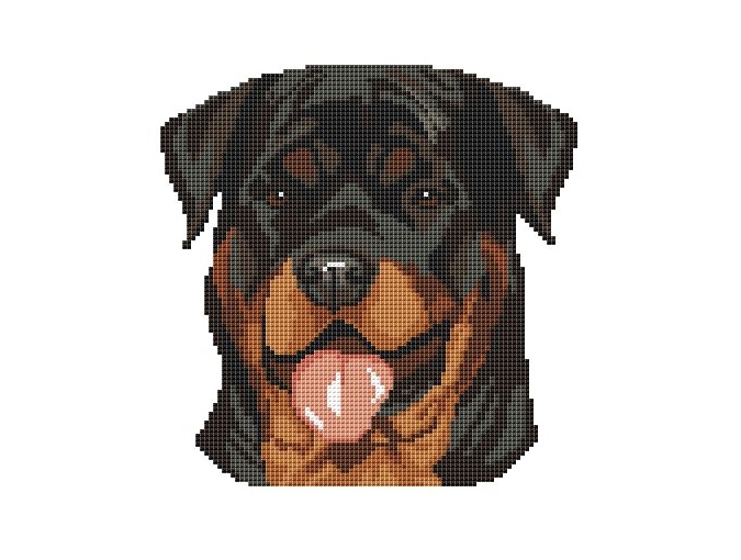 The Rottweiler Smile Cross Stitch Pattern фото 1