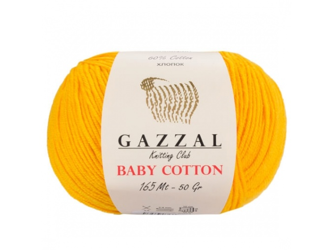 Gazzal Baby Cotton, 60% Cotton, 40% Acrylic 10 Skein Value Pack, 500g фото 16