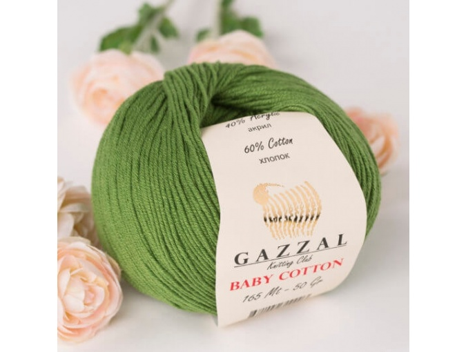 Gazzal Baby Cotton, 60% Cotton, 40% Acrylic 10 Skein Value Pack, 500g фото 80