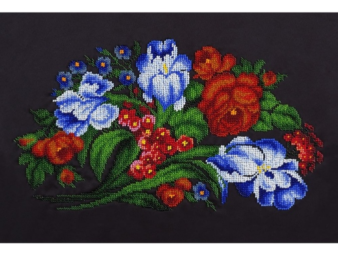 Bouquet of Irises Bead Embroidery Kit фото 1
