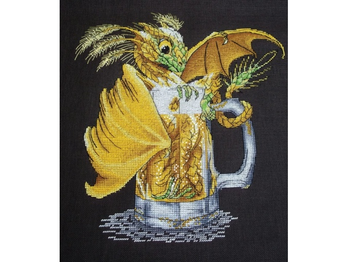 Beer Dragon Cross Stitch Pattern фото 2