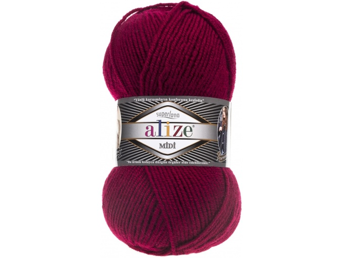 Alize Superlana Midi 25% Wool, 75% Acrylic, 5 Skein Value Pack, 500g фото 29