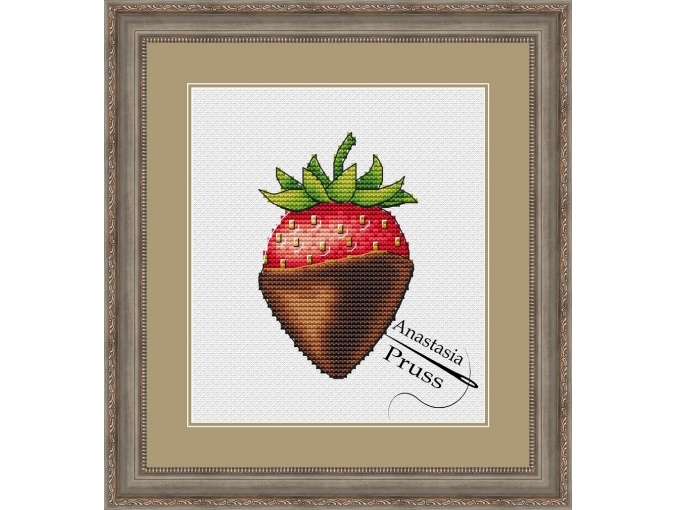 Chocolate Covered Strawberries Cross Stitch Pattern фото 1