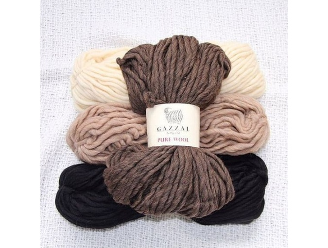 Gazzal Pure Wool-4, 100% Australian Wool, 4 Skein Value Pack, 400g фото 1