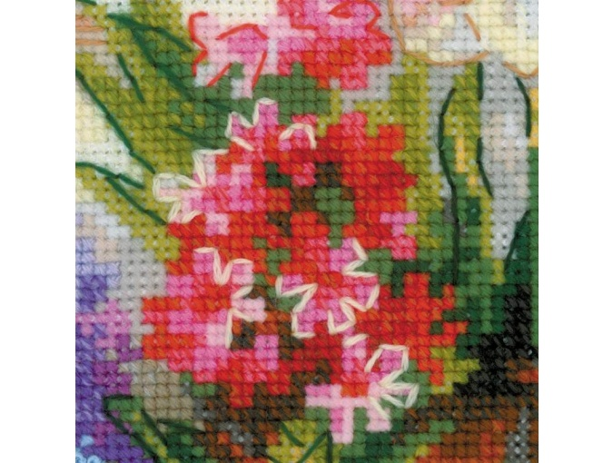 Windowsill with Flowers Cross Stitch Kit фото 3
