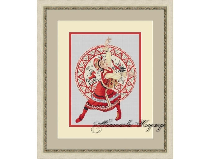 Mezen Painting Cross Stitch Pattern фото 1