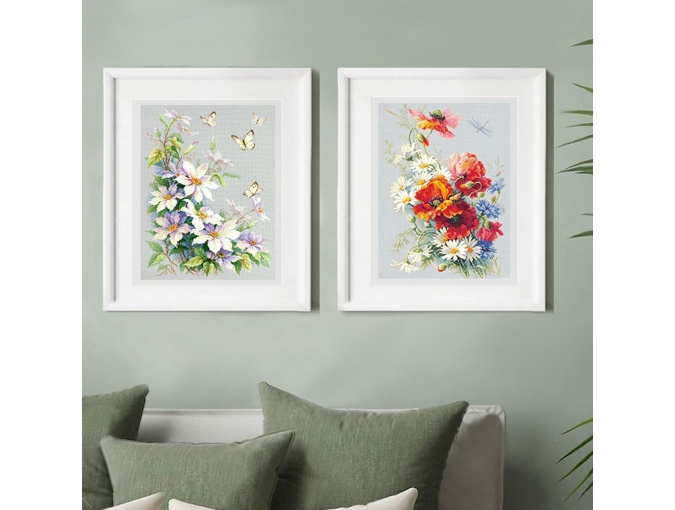 Clematis and Butterflies Cross Stitch Kit фото 8