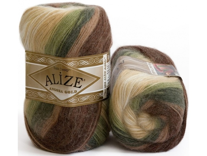 Alize Angora Gold Batik, 10% mohair, 10% wool, 80% acrylic 5 Skein Value Pack, 500g фото 5